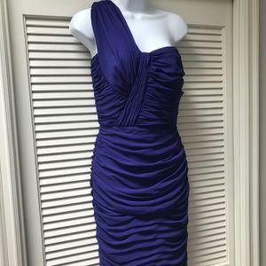 TADASHI SHOJI  One Shoulder Chiffon Dress- purple